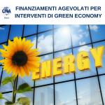 FONDO ENERGIA: FINANZIAMENTI AGEVOLATI PER INTERVENTI DI GREEN ECONOMY