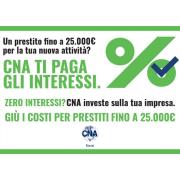 Nuove imprese: CNA ti paga gli interessi per finanziamenti fino a 25.000€