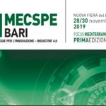 Fiera MECSPE BARI -Nuova Fiera del Levante 28/30 Novembre 2019 –Condizioni vantaggiose per gli associati CNA