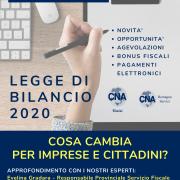 Legge di Bilancio 2020, cosa cambia per imprese e cittadini? Incontro gratuito lunedì 24 febbraio