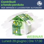 Contributi a fondo perduto, come fare per richiederli? Lo spiega CNA Romagna Servizi – Webinar gratuito lunedì 29 giugno